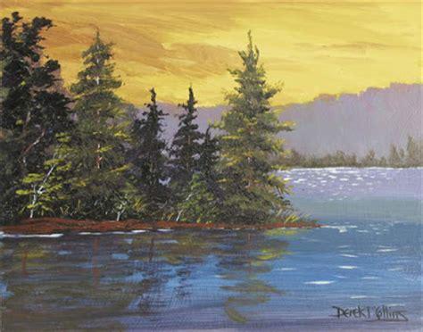acrylic painting of trees artist derek collins modern impressionist landscape