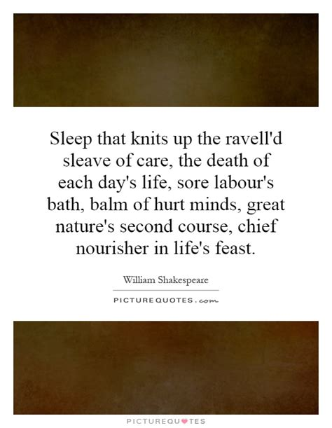 sleep that knits up the ravelled sleeve of care sleep that knits up the raveled sleave of care t by