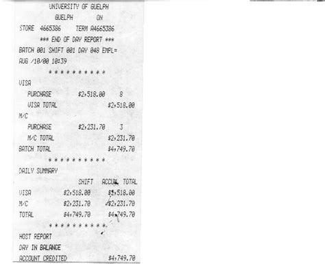 free printable receipts for services deposits financial services