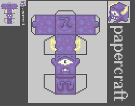 pixel paper craft pixel papercraft cyclopscube by mightybearrr on deviantart