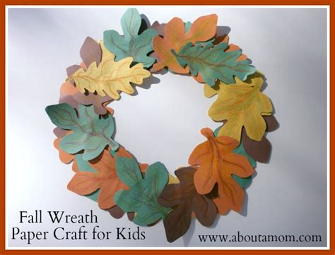 construction paper crafts for fall fall wreath paper craft for