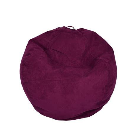 purple bean bag chairs ace casual furniture purple microsuede bean bag 9801901