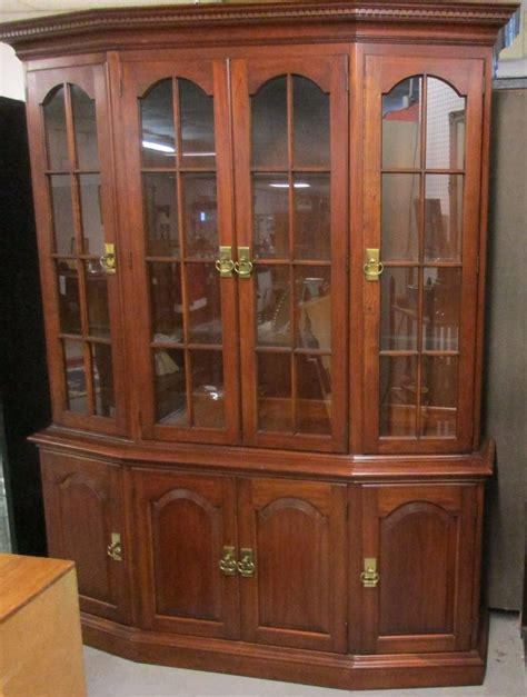 House Cabinets by Beautiful Pennsylvania House Lighted Cherry Breakfront