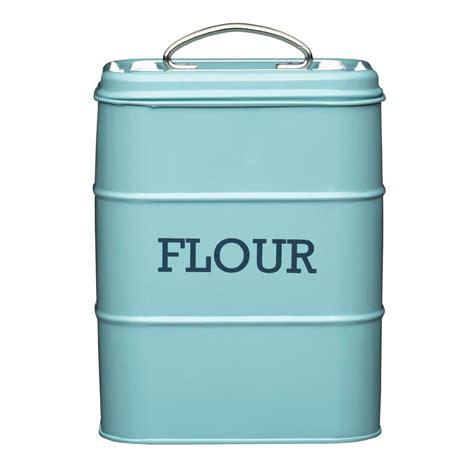storage canisters kitchen living nostalgia flour canister kitchen storage jar containers pots pale blue ebay