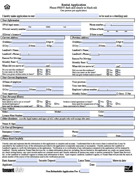 forms templates word free kansas rental application form pdf template