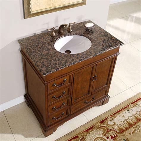 sink bathroom vanities with granite top 36 inch single sink bathroom vanity with granite counter