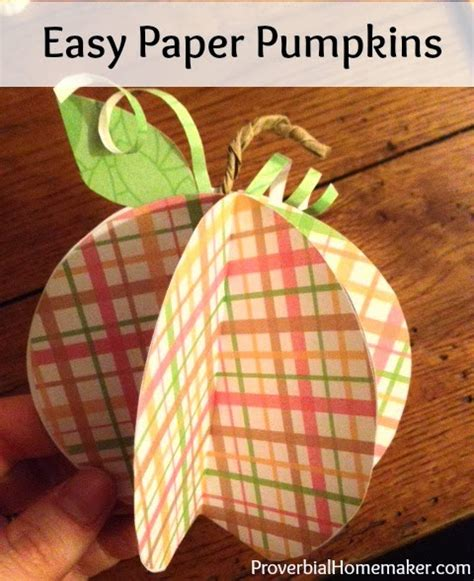 simple paper crafts for adults easy paper pumpkin craft