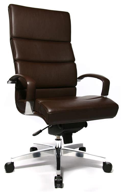 fauteuil de bureau cuir marron clair