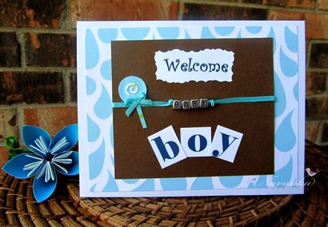 how can we make a greeting card beautiful handmade baby boy welcome greeting by