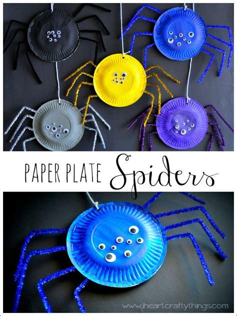 spider paper plate craft crafts think crafts by createforless