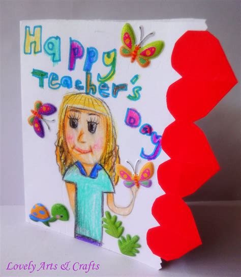 teachers day crafts for lovely arts crafts v 7 s day card