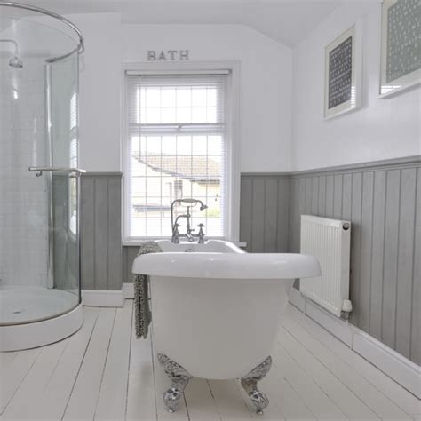 gray and bathroom ideas tongue and groove half panelled wall grey bathroom ideas