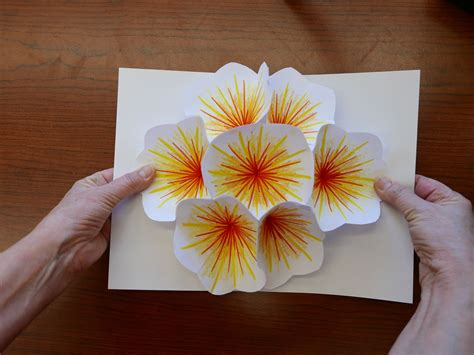 pop up cards for to make how to make a bouquet flower pop up card