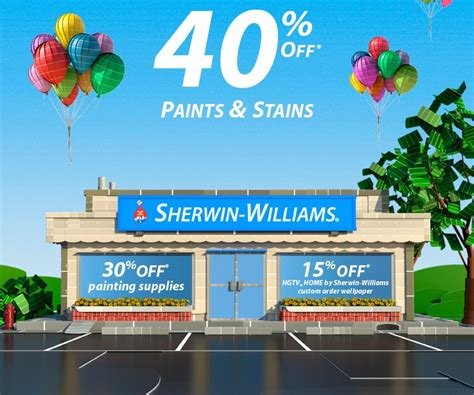 sherwin williams paint store bc sherwin williams save 40 paints stains 30