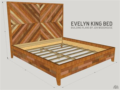 king bed woodworking plans 25 best ideas about chevron bedding on