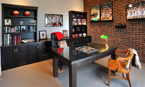 Living Home Decor Ideas mullet cabinet home office for the sports fan