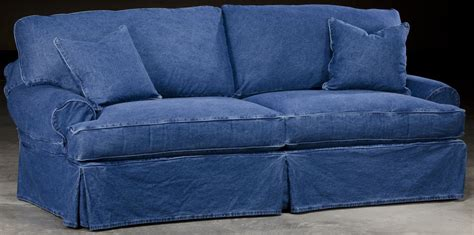 denim slipcovers for sofas slip cover denim style sofa