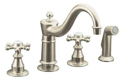 antique kitchen sink faucets kohler antique kitchen sink faucet in vibrant brushed nickel the home depot canada