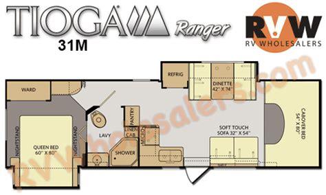 tioga rv floor plans 2015 fleetwood rv tioga ranger 31m class c motorhome the