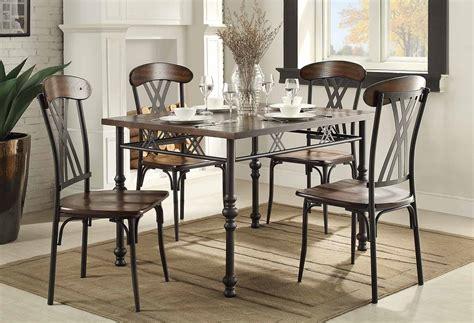 metal set homelegance loyalton dining set wood metal 5149 dining
