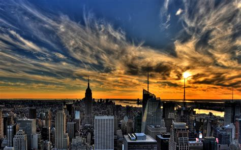 in new york sunset in new york wallpapers 1920x1200 338070