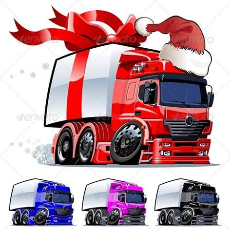 lkw weihnachtsbaum vector cargo truck graphicriver