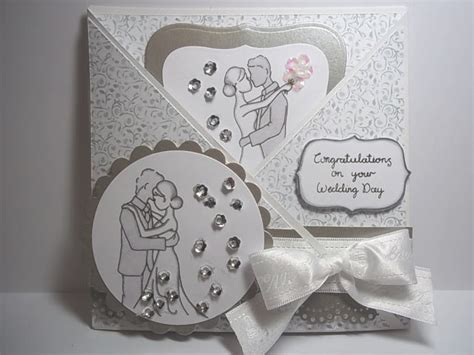 wedding card ideas to make handmade wedding card idea using some gorgeous sequins