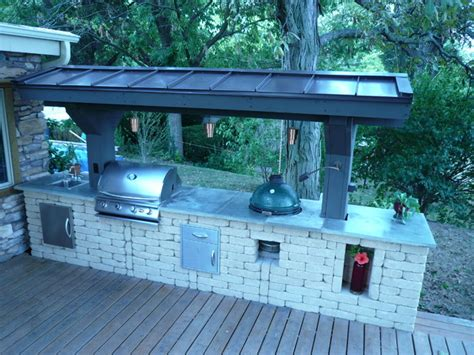 Kitchen Island Grill outdoor kitchen traditional deck chicago by