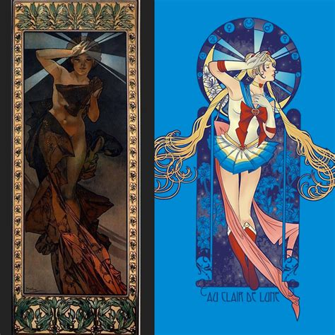 Mucha Artwork by Eriphyle Interview On Art Nouveau Japan And Scouts
