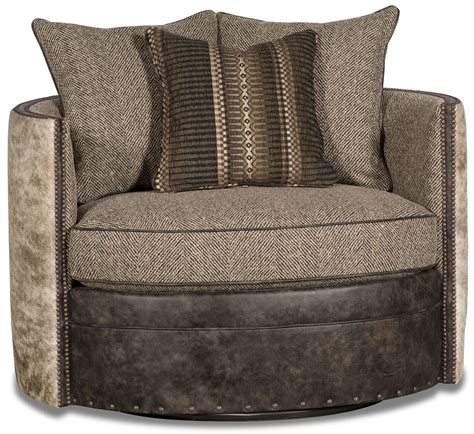 barrel style swivel chair barrel style chair covered in leather herringbone and