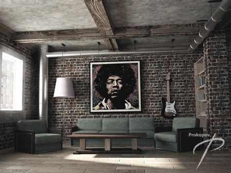 loft style living room interior livingroom in a loft style in the style of loft