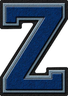 a to z presentation alphabets royal blue columbia blue varsity