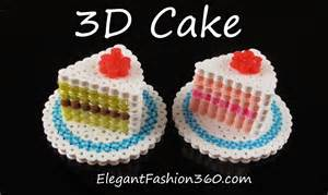 how to make 3d perler hama perler cake 3d how to tutorial by