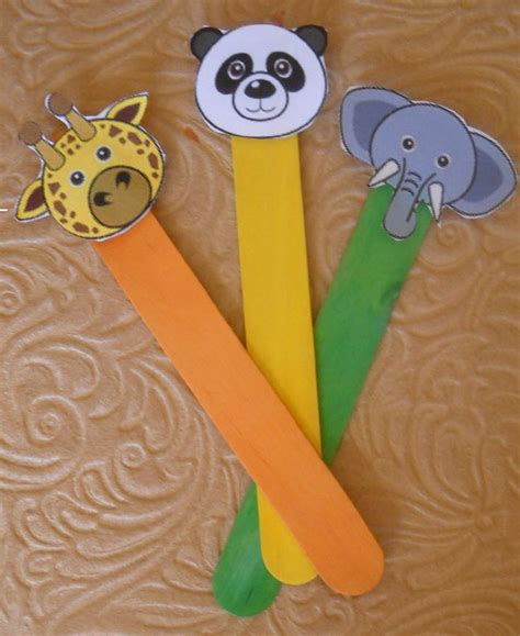 craft stick projects for preschoolers puppet stick animals preschool puppets popsicle