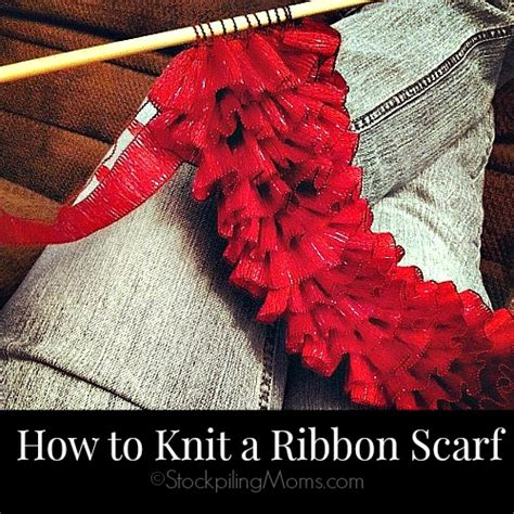 how to end a knit scarf how to knit a ribbon scarf