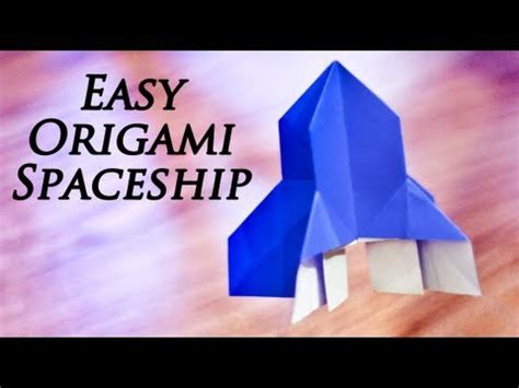 origami spaceship how to make an easy origami spaceship