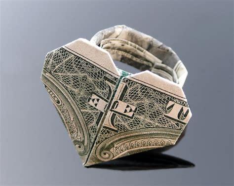 dollar ring origami dollar bill origami ring by craigfoldsfives on