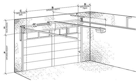 overhead garage door dimensions sectional garage door clearances