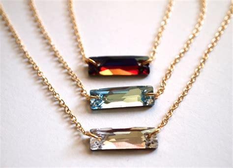 make swarovski jewelry diy swarovski elements baguette necklace