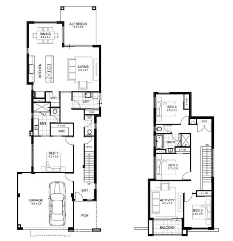 two storey house plans perth narrow lot storey house designs perth apg homes