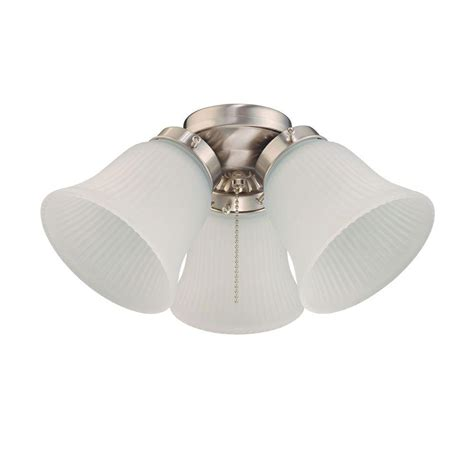 brushed nickel ceiling lights westinghouse 3 light brushed nickel ceiling fan light kit