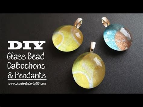 how to make cabochon jewelry glass and paper cabochon pendants tutorial