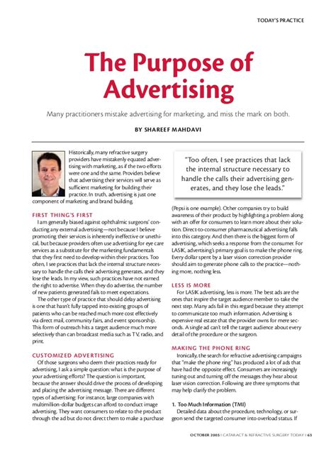 the purpose of the purpose of advertising