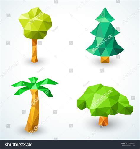 origami tree frog origami origami tree steps stock illustration