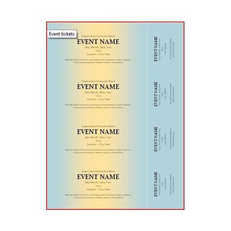 doug blog microsoft word ticket template