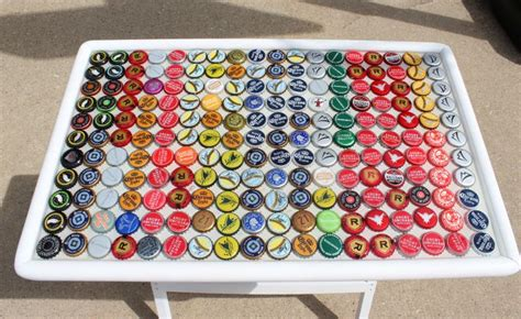 bottle cap table top and ingenious diy projects you can do with bottle caps