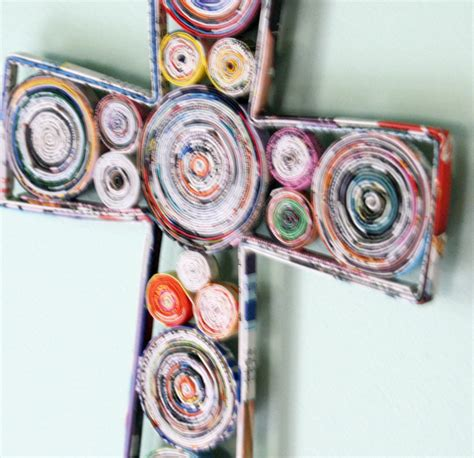 recycled magazine crafts for recycled paper wall