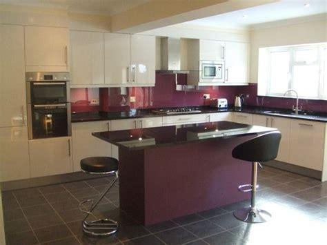 Kitchen Designs With Black Cabinets aubergine glass splashback google search kitchen