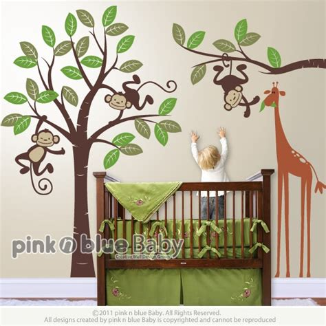 nursery monkey wall decals monkey baby room decor home decorating ideas