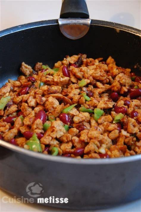 fajitas aux prot 233 ines de soja textur 233 es cuisine metisse
